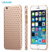 Пластиковый чехол Usams Twingle Series Gold для Apple iPhone 6/6S
