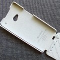 Кожаный чехол Melkco Leather Case White LC для HTC One M7(#3)