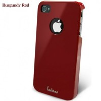Пластиковый чехол Dreamplus High Glossy Series Burgundy Red для Apple iPhone 4/4S