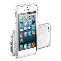 Бампер SGP Linear EX Slim Metal Series Silver Satin для Apple iPhone 5/5S/5SE