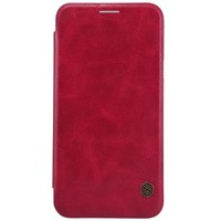 Кожаный чехол Nillkin Qin Leather Case Red для Samsung Galaxy E7