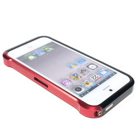 Металлический бампер Element case Vapor Black/Red для Apple iPhone 5/5S/5SE