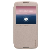 Полиуретановый чехол Nillkin Sparkle Leather Case Gold для Alcatel One Touch Idol 3 (5.5) 6045Y