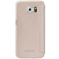 Полиуретановый чехол Nillkin Sparkle Leather Case Gold для Samsung G920F Galaxy S6(#2)