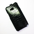 Кожаный чехол Abilita Leather Case Black Crocodile для HTC One Dual Sim(#3)
