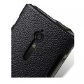 Кожаный чехол книга Melkco Leather Case Black LC для Sony Xperia Ion LT28h(#4)