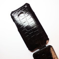 Кожаный чехол Abilita Leather Case Black Crocodile для HTC One Dual Sim(#4)
