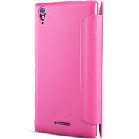 Полиуретановый чехол Nillkin Sparkle Leather Case Rose для Sony Xperia T3