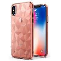 Защитный чехол бампер Ringke Air Prism Series Rose Gold для Apple iPhone X/ iPhone XS