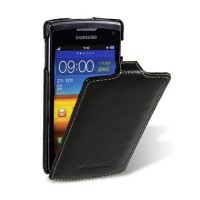 Кожаный чехол книга Melkco Leather Case Black LC для Samsung S8600 Wave 3