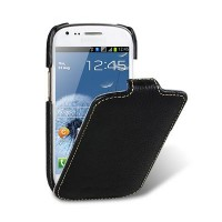 Кожаный чехол Melkco Leather Case Black LC для Samsung i8190 Galaxy S3 mini