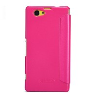 Полиуретановый чехол Nillkin Sparkle Leather Case Rose для Sony Xperia Z1 mini/Compact