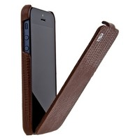 Кожаный чехол HOCO Lizard pattern Leather Case Brown для Apple iPhone 5/5S/5SE