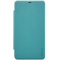 Полиуретановый чехол Nillkin Sparkle Leather Case Blue для Microsoft Lumia 640XL