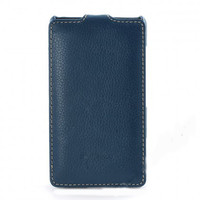 Кожаный чехол книга Melkco Leather Case Dark Blue LC для Nokia Lumia 820