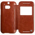 Кожаный чехол HOCO Crystal leather Case Brown для HTC One M8(#4)