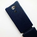 Кожаный чехол Melkco Leather Case Dark Blue LC для Sony Xperia M2 Dual S50h(#4)
