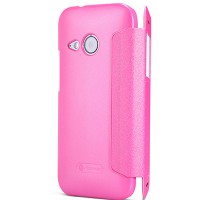 Полиуретановый чехол Nillkin Sparkle Leather Case Rose для HTC One M8 mini 2