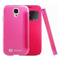 Кожаный чехол Yoobao Slim Leather Case II Pink для Samsung i9500 Galaxy S4