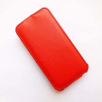 Кожаный чехол Armor Case Red для Samsung G350E Galaxy Star Advance
