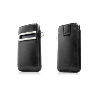 Кожаный чехол футляр Capdase Smart Pocket Black/Red для Apple iPhone 4/4S