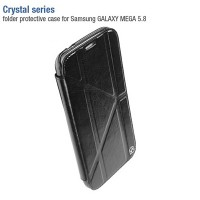 Кожаный чехол-книга HOCO Crystal leather Case Black для Samsung i9150 Galaxy Mega 5.8