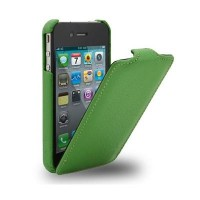 Кожаный чехол Melkco Leather Case Black LC для Apple iPhone 4/4S