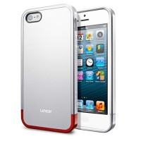 Пластиковый чехол SGP Linear Metal Series Silver Satin для Apple iPhone 5/5S/5SE