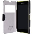 Полиуретановый чехол Nillkin Fresh Series Black для Sony Xperia Z1 mini/Compact(#3)