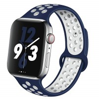 Ремешок Nike синий-белый для Apple Watch Series 4/5 44mm