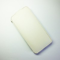 Кожаный чехол Armor Case White для Alcatel One Touch Idol Mini 6012X