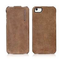 Кожаный чехол Borofone Colonel leather case Khaki для Apple iPhone 5/5S/5SE