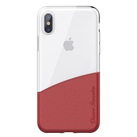 Чехол бампер Nillkin Half Series Красный (Red)  для Apple iPhone X