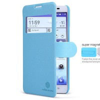 Полиуретановый чехол Nillkin Fresh Series Blue для Huawei Ascend G750 Honor 3X