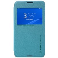 Полиуретановый чехол Nillkin Sparkle Leather Case Blue для Sony Xperia E4G