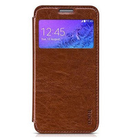 Кожаный чехол HOCO Crystal leather Case Brown для Samsung G850 Galaxy Alpha