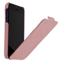 Кожаный чехол HOCO Lizard pattern Leather Case Pink для Apple iPhone 5/5S/5SE
