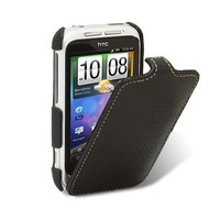 Кожаный чехол книга Melkco Leather Case Black LC для HTC Wildfire S