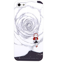 Пластиковый чехол ROCK Rabbit Xiaoji Series Rose для Apple iPhone 5/5S/5SE