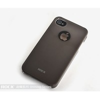 Пластиковый чехол ROCK Shining Series Naked Ultra Thin Black для Apple iPhone 4/4S