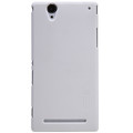 Пластиковый чехол Nillkin Super Frosted Shield White для Sony Xperia T2 Ultra Dual(#1)