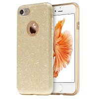 Силиконовый чехол Usams Bling Series Gold для Apple iPhone 7/iPhone 8