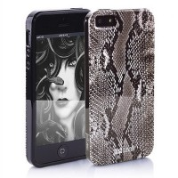 "Силиконовый чехол Just Cavalli ""PYTHON "" Black для Apple iPhone 5/5S/5SE"