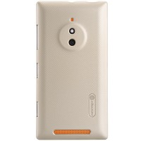 Пластиковый чехол Nillkin Super Frosted Shield Gold  для Nokia Lumia 830