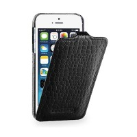 Кожаный чехол-книга TETDED Troyes Black Crocodile для Apple iPhone 5/5S/5SE