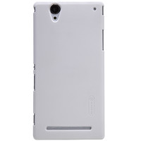 Пластиковый чехол Nillkin Super Frosted Shield White для Sony Xperia T2 Ultra Dual