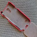 Кожаный чехол Melkco Leather Case Red LC для Samsung i9190 Galaxy S4 mini(#3)