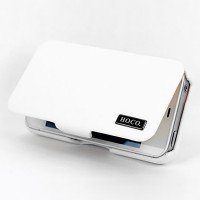 Кожаный чехол HOCO Baron Leather Case White для Apple iPhone 4/4S