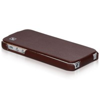 Кожаный чехол HOCO Duke leather case Brown для Apple iPhone 5/5S/5SE