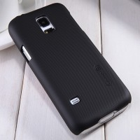 Пластиковый чехол Nillkin Super Frosted Shield Black  для Samsung G800F Galaxy S5 mini
